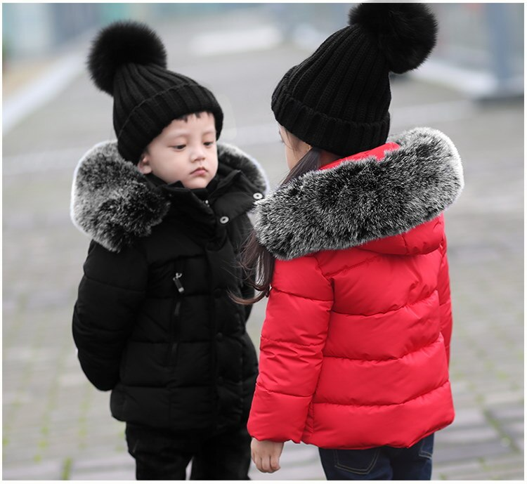 冬新作 厚い子供コート**❤子供ファッション 高品質❤韓国子供服 ダウンコートロングコート/棉服❤ふわふわネック 裏起毛コート男女共用子供服