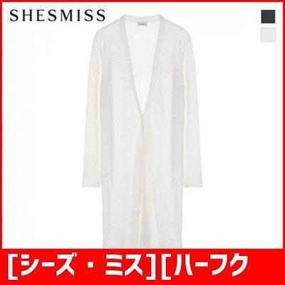 [シーズ・ミス][ハーフクラブ/SHES MISS]の亜麻布のブレンドオープンフロントカディゴンSSKCDI2006 /女性ニット/カーディガン/韓国ファッション
