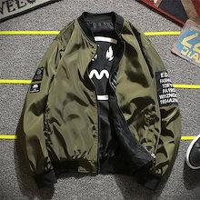 韓国ファッション 新品 大人気 文字 花柄  両面の着用 アウター ジャケット  ポップなファッション メンズ