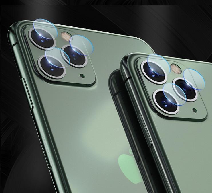 【メール便対応】iPhone11/11 pro/11proMAX カメラレンズ フレキシブル ガラスフィルム iPhone11 カメラガラス レンズカバー 耐衝撃 強化ガラス材質