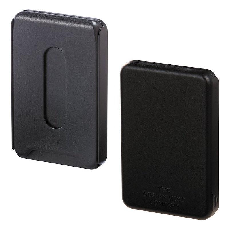 (まとめ買い)リヒトラブ コイン・ICカードケース 黒 D0080-24 〔3個セット〕
