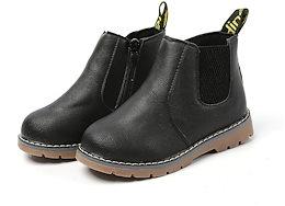 数量限定!!!キッズブーツ  ショートブーツ 男女兼用 通学靴 軽量 撥水加工  防滑 クッション性  通園 通学