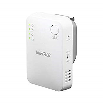 BUFFALO WiFi 無線LAN 中継機 WEX-733DHPS/N 11ac 433+300Mbps コンセント直挿しモデル 有線LANポート搭載 簡易パッケージ【iPhone11/iPhone