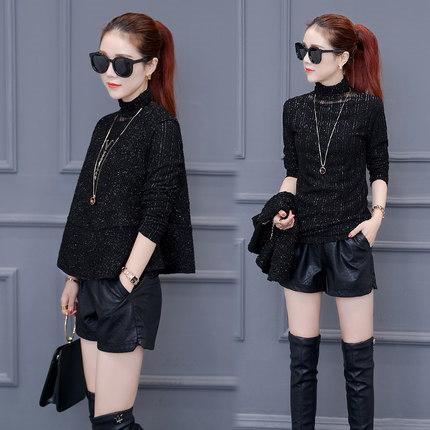秋冬季新款女装两件套毛衣打ち縫い縫合韩本宽松上衣服潮