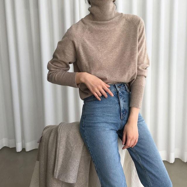 [ラルム】基本ウールポーラ4col korea fashion style