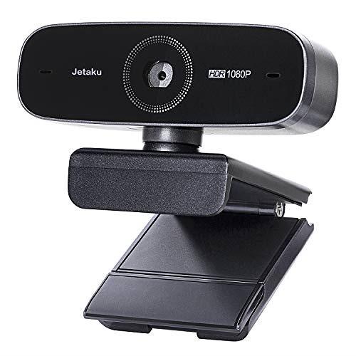 JETAku ウェブカメラ 60fps 在宅勤務 Webカメラ 自動焦点 美顔機能 1080P フルHD高画質 200万画素 マイク内蔵 ビデオ通話 skype会議 オートフォーカス コンピューター用