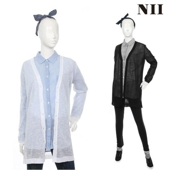 に女性ソリッドのロングウェトカディゴン ニット/セーター/ニット/韓国ファッション