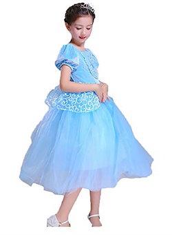 f34737b950f1d GETS(ゲッツ) オーロラ姫 風 ドレス プリンセスなりきり 子供 ドレス キッズ 子ども お姫様 ワンピース