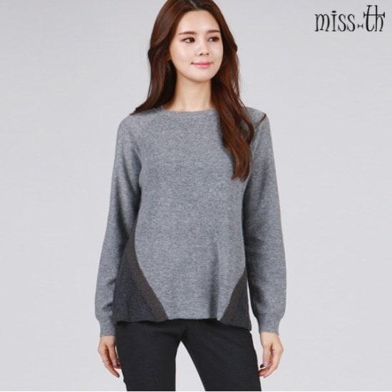 ミスティーに一レースのポイント・ニットティー ニット/セーター/ニット/韓国ファッション
