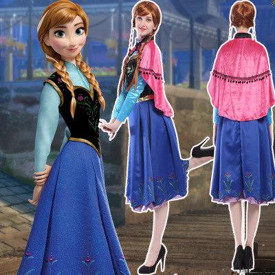 アナと雪の女王 アンナプリンセス成人ドレストレーンワンピース