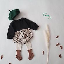 ✨超人気✨韓国の子供服、子供のかわいい水玉ジャンプスーツ、女の赤ちゃんの格子縞のジャンプスーツ、ベビー服 、 ロンパース