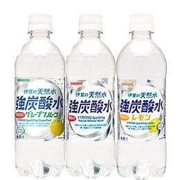 タイムセールで激安一部地域送料無料 強炭酸水も選べる5種類 サンガリア 伊賀の天然水 強炭酸水 炭酸水 プレーン レモン グレープフルーツ 500ml24本2ケース 48本セット