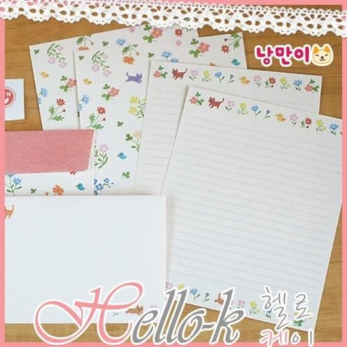 韓国イラストNANGMANのレターセット 韓国雑貨 韓国文具 ギフト ハングル korean selectshop Hello-K 韓国雑貨 子供の日 ギフト
