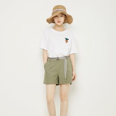 プラストーリーサボテン自首ティーシャツPH2CH532 ティーシャツ / ソリッド/無知ティーシャツ / 韓国ファッション
