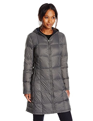 Tommy Hilfiger Womens Packable Down Jacket with Hood, Titan, Large