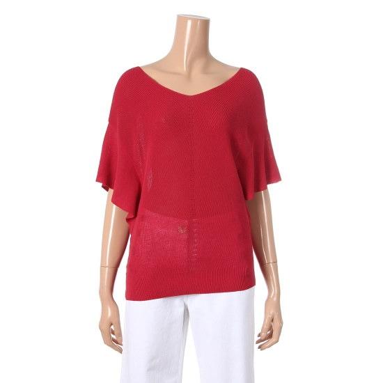 シシコレクトVネクフリル小売香織ニートC172KSK040 ニット/セーター/韓国ファッション