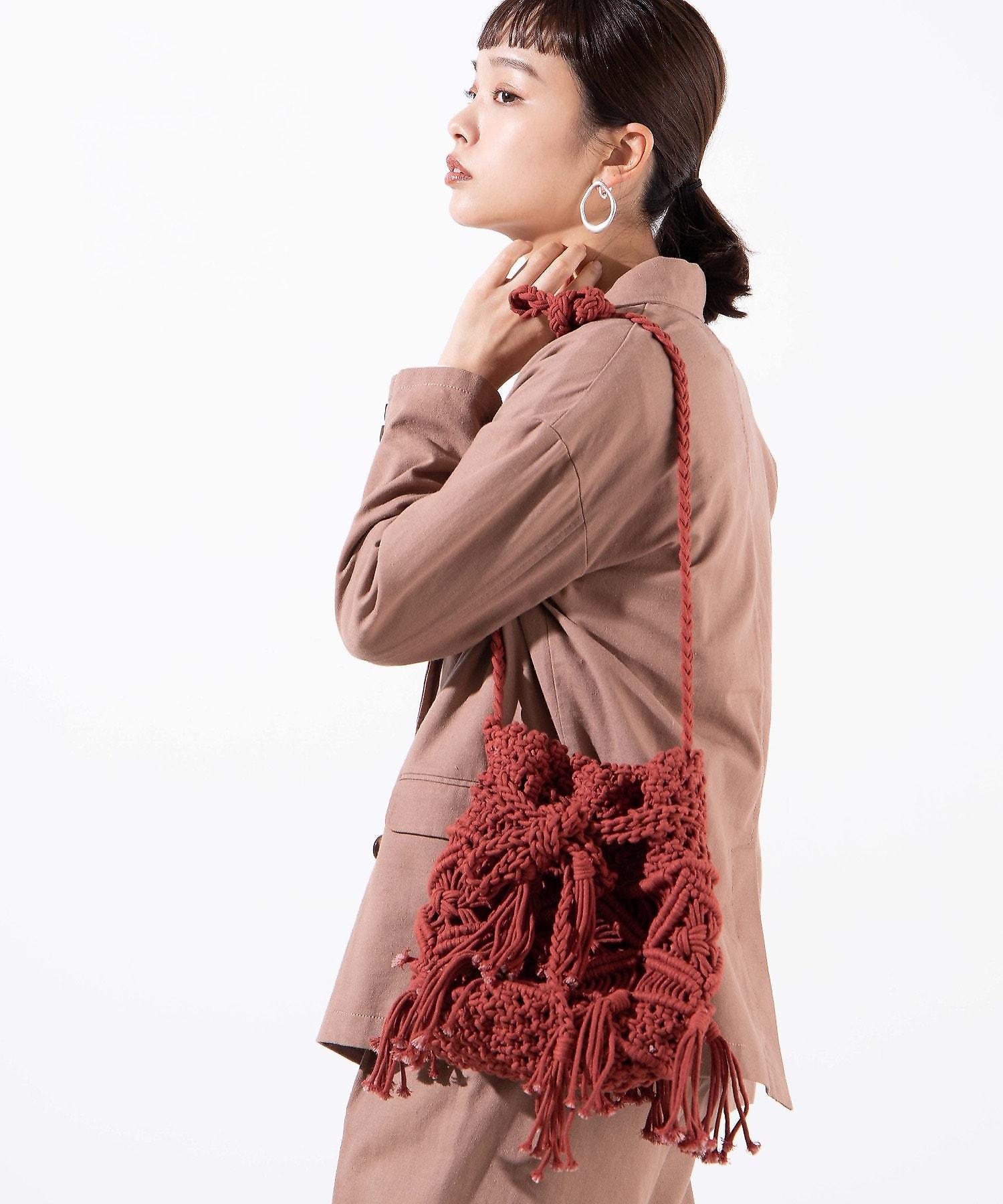 【WEGO公式】マクラメ巾着ショルダー WE20SP03-LG9371