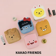【Kakao friends】リトルフレンズスクェアポーチ/Little friends square pouch/5種・110X110X60㎜