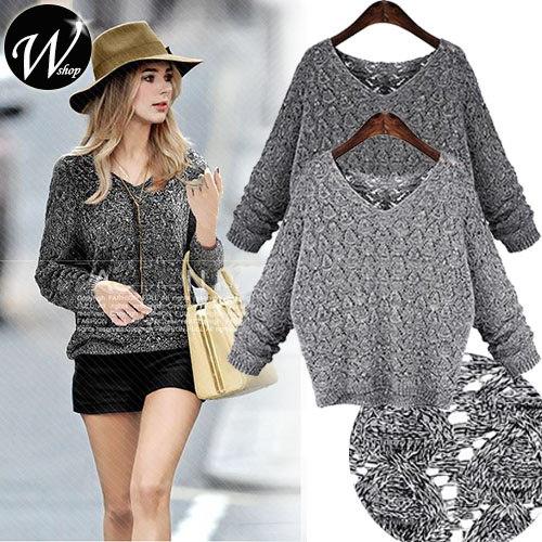 ★送料無料★編み目からの透け感♪◆甘く編まれた柔らかセーター 長袖◆