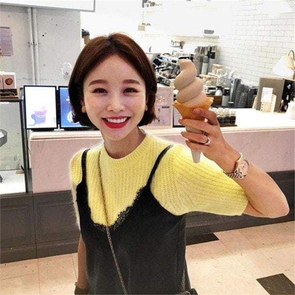 [イムアセンブリ]ロビュロビュアンゴラニットnew 女性ニット/ラウンドニット/韓国ファッション