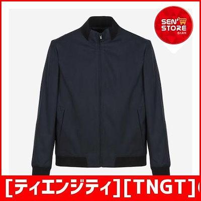 [ティエンジティ][TNGT]のネイビーカジュアルブルルジョンのジャンパーTGJU7C101N3 /デニムジャケット/ジャケット/韓国ファッション