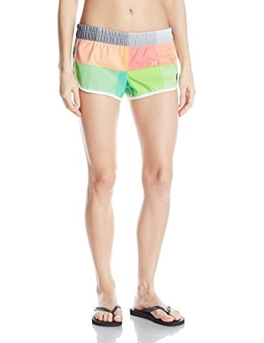 Hurley Juniors Supersuede 2.5 Inch Beachrider Printed Boardshort, Heather Luvglo, Large