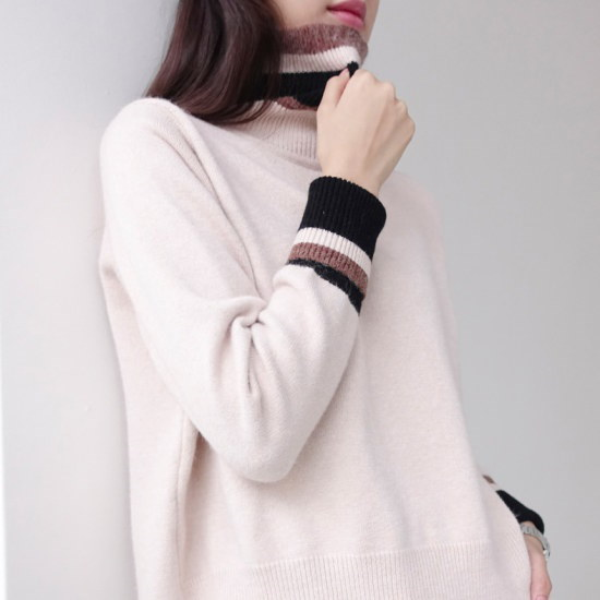ミシャプネットのポーラー・ニットプルオーバー2 color ニット/セーター/タートルネック/ポーラーニット/韓国ファッション