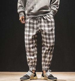 3db1c8ae0a35e4 秋冬メンズパンツ ズボン大きいサイズ チェック柄 おしゃれ♪全4色