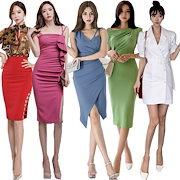 72817ac77385c 韓国ファッション2019春服新作 ☆ニットワンピース☆ パーティードレス ワンピース パーティー ドレス ワンピ