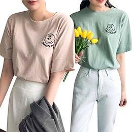 [レビュー1100件突破] チャーリースヌーピーTシャツ / レビュー好評 / 色んなボトムスに合わせやすい~ チャーリーの刺繍が可愛いポイント!