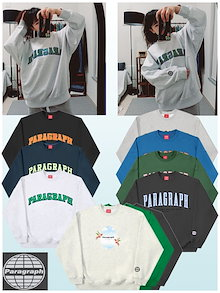 PARAGRAPH トレーナー3タイプColorful Embroidery MTM Sky Bird Fleece MTM Velvet Embroidery MTM