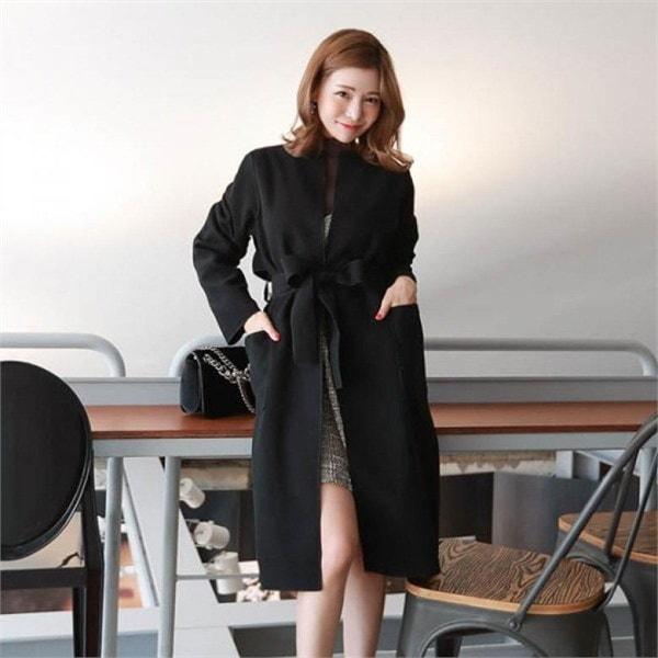 素である・マーブルロング開けたことコート 女性のコート/ 韓国ファッション/ジャケット/秋冬/レディース/ハーフ/ロング/