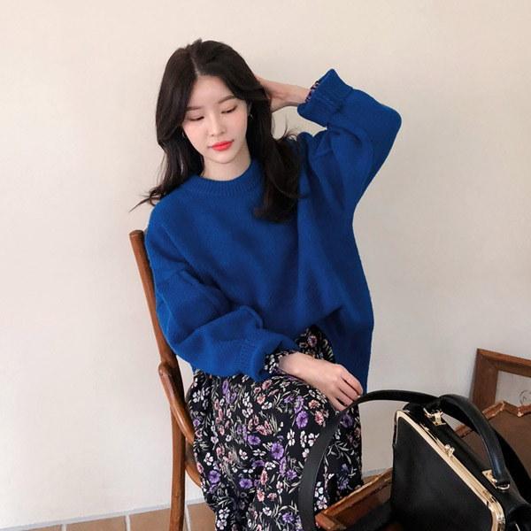 ボンダーブルーニット/ニット/韓国ファッション/イムブリー/IMVELY