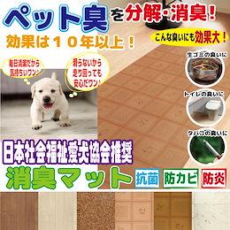 【消臭マット】日本社会福祉愛犬協会推奨!気になるいや~な臭いをすぐに分解消臭!!ペットや生ごみ、トイレの臭いに!【59×90cm、59×270cm、88×180cm】
