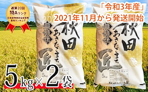 【新米 無洗米】令和3年産 通算20回「特A」ランク 秋田県 仙北市産米 あきたこまち 10kg (