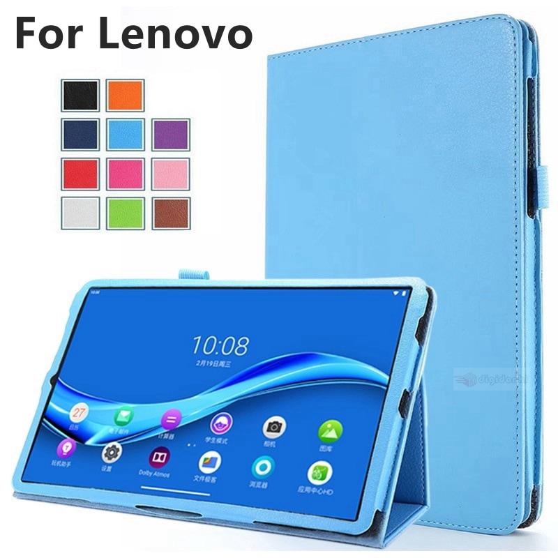Lenovo Tab M10 FHD Plus用NEC LAVIE Tab E TE510/KAS 10.3インチタブレット用レザーケース/保護カバー視聴スタンド機能ケース手帳型カバー【B345】