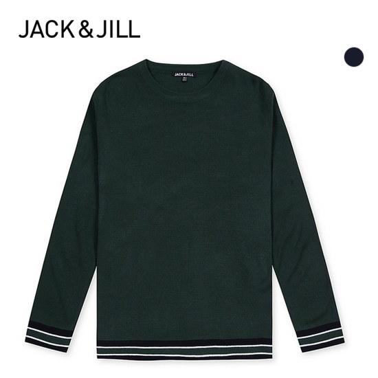 ジャック・アンド・質ジャック・アンド・質男性配色ポイント長い腕ラウンドニット31173SR003 ニット/セーター/ニット/韓国ファッション