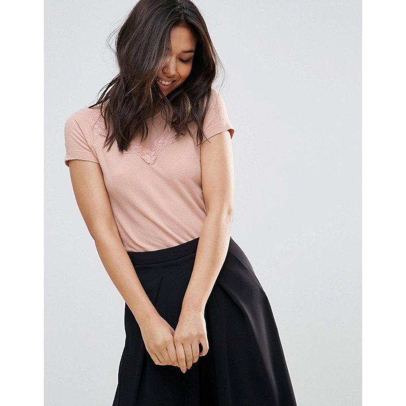 ワイ エー エス レディース トップス【Y.A.S Bella Embroidered Sleeve Top】Mahogany rose