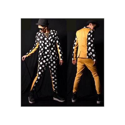 b系 メンズ ダンス衣装 コート,ベスト,ズボン ファッション スタジャン 細身 男性用 演出服 練習着