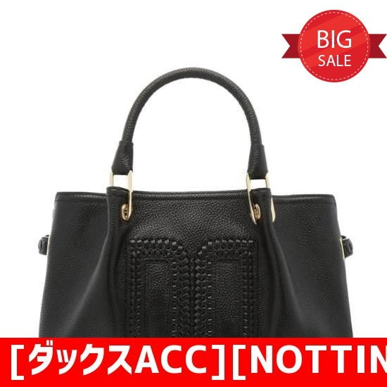 [ダックスACC][NOTTING HILL】ブラックウイービングDDロゴトートバックDCBA8E033BK トートバッグ / 韓国ファッション / Tote bags