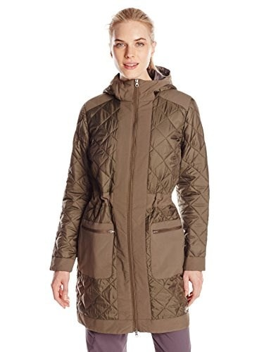 Merrell Womens Lahti Long Microquilt Jacket, X-Large, Clay