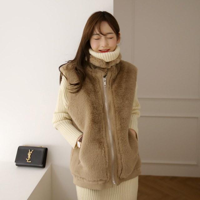 しきりになりたいパーマスタングベストkorean fashion style