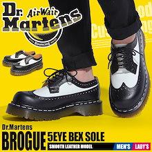 ドクターマーチン 3989 5アイブローグシューズベックスソール ウイングチップ コンビレザー ブーツ