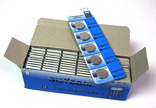 全国一律無料 CR2032 3V リチウムコイン ボタン電池5個入×20シート(合計100個) 1BOX