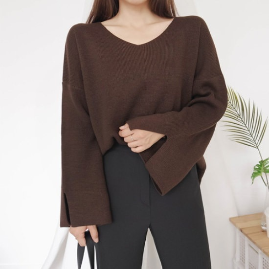 英と雨コナクブイニット ニット/セーター/ニット/韓国ファッション