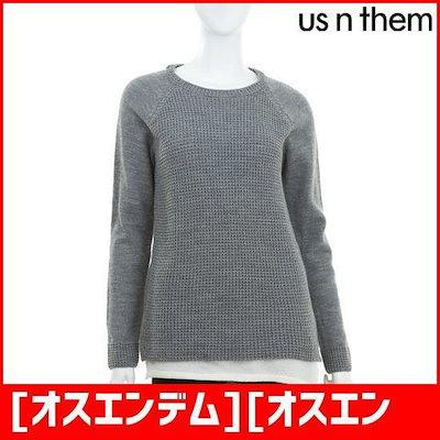 [オスエンデム][オスエンデム]女性二重配色セーターグレー /ニット/セーター/ニット/韓国ファッション