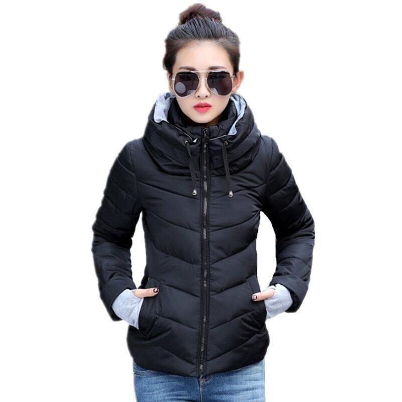 2016冬のジャケットの女性パーカー厚い冬アウタープラスサイズのダウンコートショートスリムデザインのコットンはジャケットコート広告を水増し
