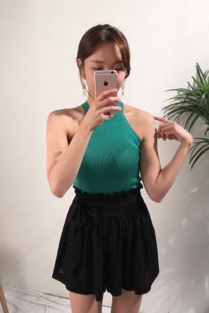 ケイトビビッドニッティングホルターネックkorea fashion style