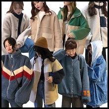 ❤♥12/10冬の新作ドルファージャケット♥可愛い/ /韓国ファッション/超人気ジャケット品質保証♥超高品質♥原宿BF风超高品質/原宿♥もこもこプードルボア風ふわふわファーコートフェイクファーシ