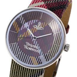 ヴィヴィアン・ウエストウッド VIVIENNE WESTWOOD / tartan unisex watch 腕時計 #VV020 BR チェック(レッド系)新春初売り大特価中!